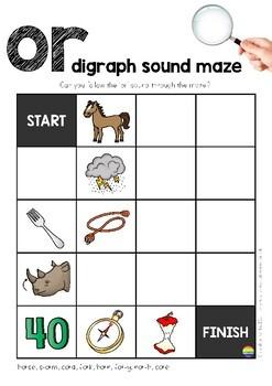 Digraph Sound Mazes + I Spy Games - Bossy 'R' Sound OR