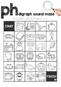 Digraph Sound Mazes + I Spy Games - PH sound