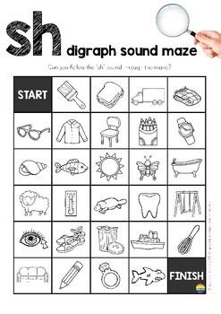 Digraph Sound Mazes + I Spy Games - SH sound