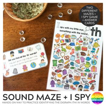 Digraph Sound Mazes + I Spy Games - TH sound
