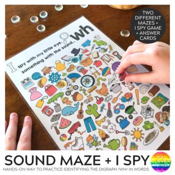 Digraph Sound Mazes + I Spy Games - WH sound