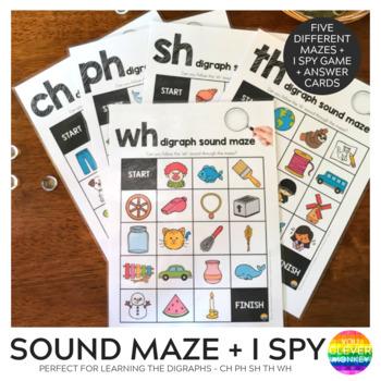 Digraph Sound Mazes - /sh/ /ch/ /th/