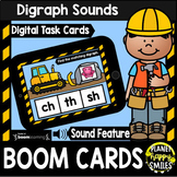 Digraph Sounds  Construction Theme BOOM Cards