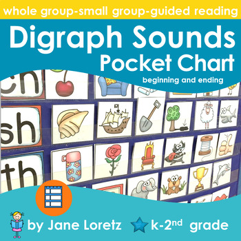 Digraph Sounds Pocket Chart (Beginning and Ending)