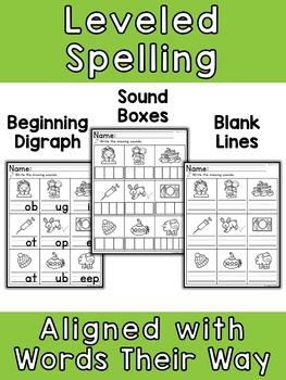 Digraph Spelling No Prep