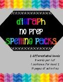 Digraph Spelling Packs- NoPrep