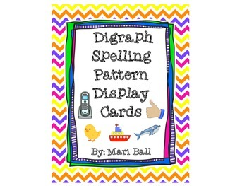 Digraph Spelling Pattern Cards