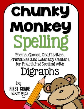 Digraph Spelling- Poems, Lists, Crafts, Centers, and More!