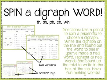 Digraph Spin a Word!