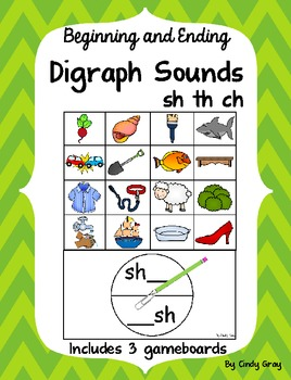 Digraph Spinner Games ~ Beginning and Ending Sounds
