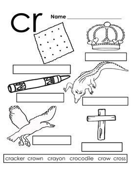 Blends and Digraphs Bundle of Learning Tools - Color, BW, and Ready to color