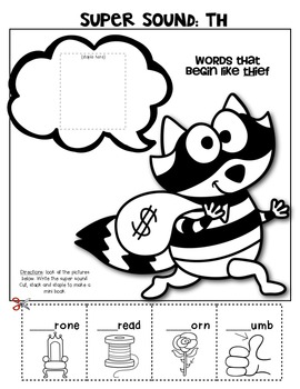Digraph {Super Sounds} Booklet for Young Students {Cut and Paste Activities}