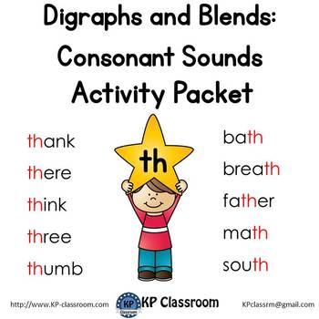 Digraph Th Consonant Sound Activity Packet And Worksheets By Kp
