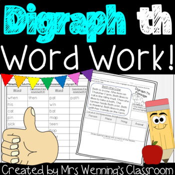 Digraph TH, a Week of Lesson Plans and Activities!