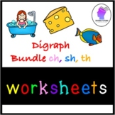 Digraph TH, SH and CH Practice WorkSheets