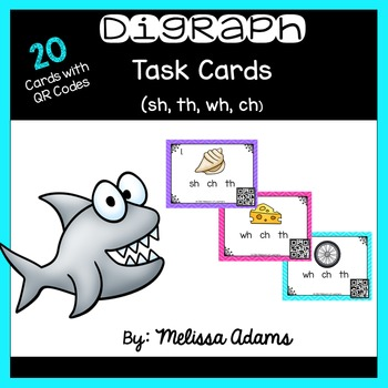Digraph Task Cards with QR codes