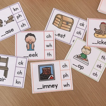 Digraph Task Cards - CH (beginning and ending)
