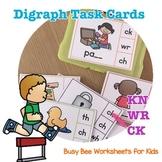 Digraph Task Cards -KN, WR, CK
