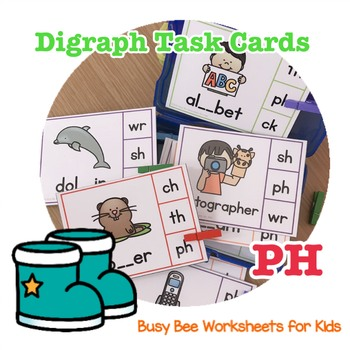 Digraph Task Cards - PH
