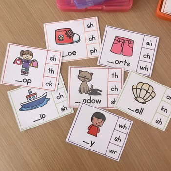 Digraph Task Cards - SH (beginning and ending)