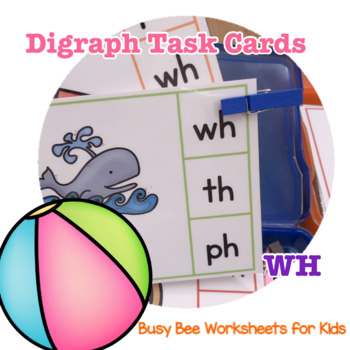 Digraph Task Cards - WH