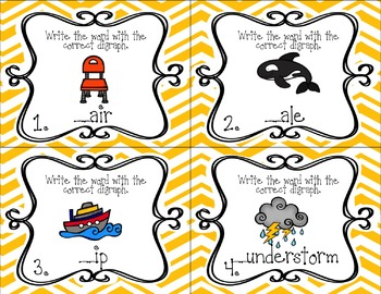 Digraph Task Cards (th, sh, wh, tch, ch)