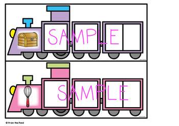 Digraph Train Cards - Phoneme Segmentation Activities