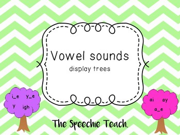 LONG VOWEL SOUND GROUPS- tree classroom display!