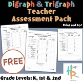 Digraph & Trigraph Teacher Assessment Pack