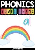 Digraph / Vowel Team AI: Phonics Word Work {Multiple Phonograms}