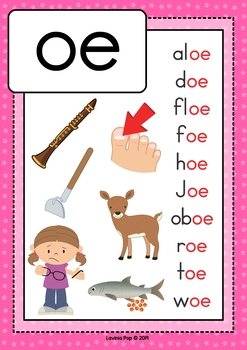 Digraph / Vowel Team OE: Phonics Word Work {Multiple Phonograms}