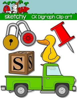 Digraphs CK / Word Families Clip art