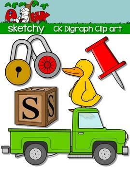Digraphs CK / Word Families Clip art