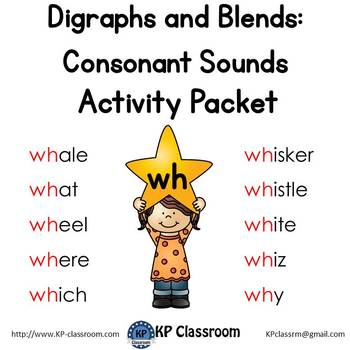 Digraph WH Consonant Sound Activity Packet and Worksheets
