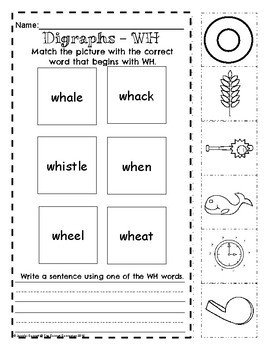 Digraph WH Worksheets