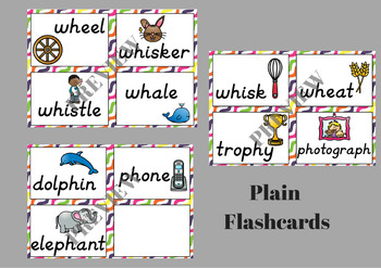 Digraph WH and PH Flash Cards and Write the Room