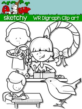 Digraphs WR / Word Families Clip art