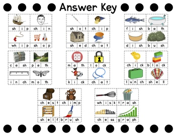 Digraph Word Building Cards