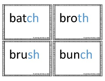 Digraph Word Flash Cards
