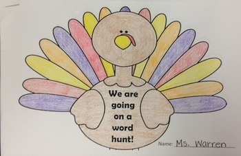 Digraph Word Hunt Turkey Booklet