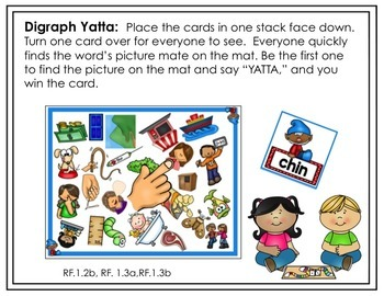 Digraph Word Recognition and Fluency Yatta - In Color and Black and White
