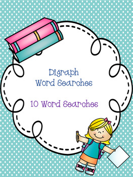 Digraph Word Search Bundle! {10 word searches}