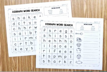Digraph Word Searches