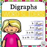 Digraph Segmenting and Blending Cards - Word Sliders