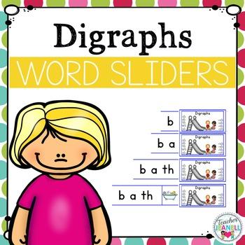 Digraphs Word Sliders