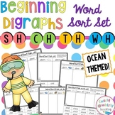 Beginning Consonant Digraph Word Sort Set