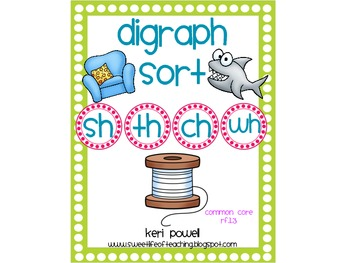 Digraph Word Work Pack