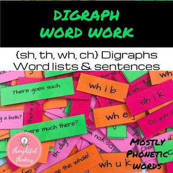 Digraph Word Work and Sentences