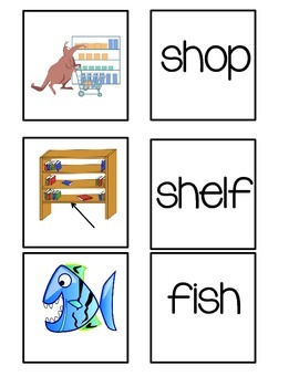 Digraph Word to Picture Match Game