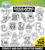 Digraph Words Cutting Images Clipart Bundle {Zip-A-Dee-Doo-Dah Designs}